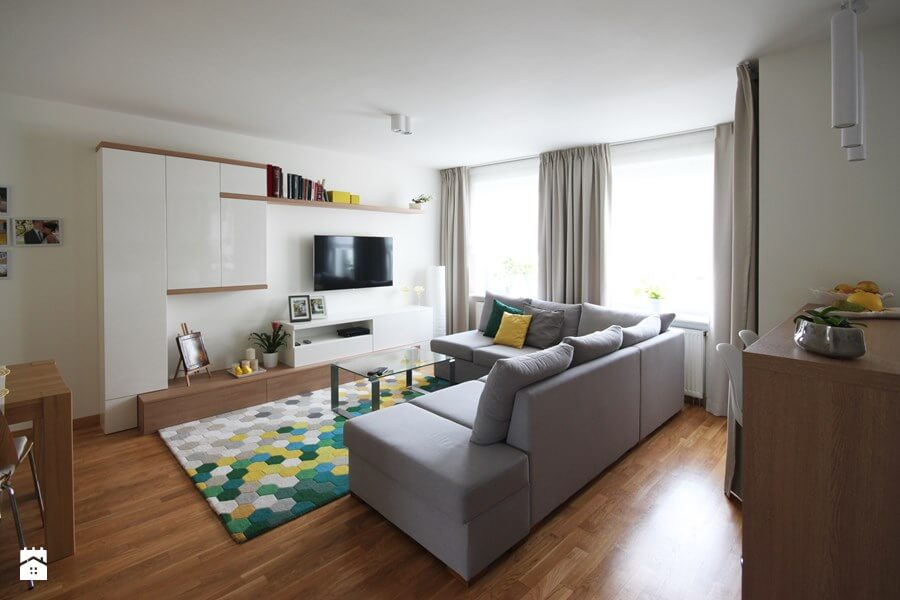 wzorzysty dywan do salonu