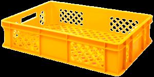 żółta skrzynka transportowa