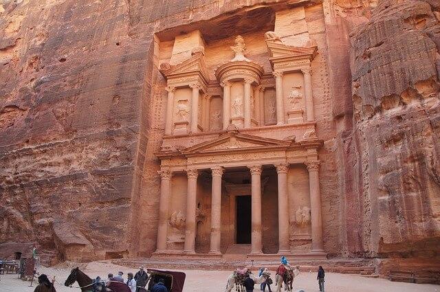 Zabytkowa Petra w Jordanii