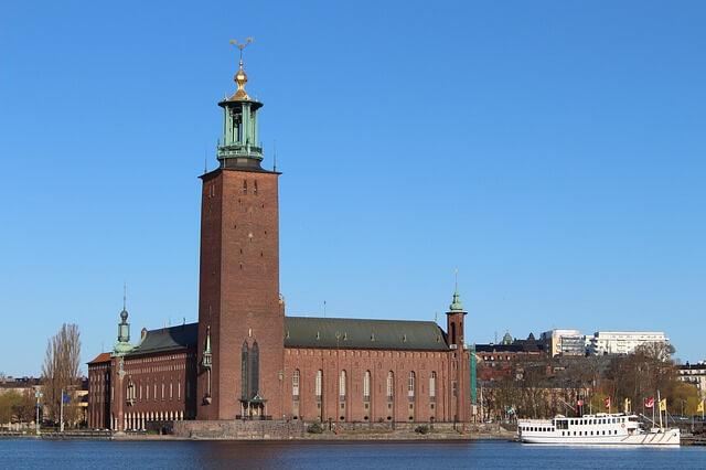 ratusz miejski w Sztokholmie