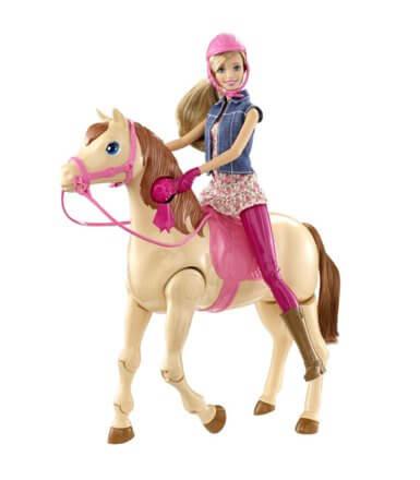 Barbie dżokejka z konikiem