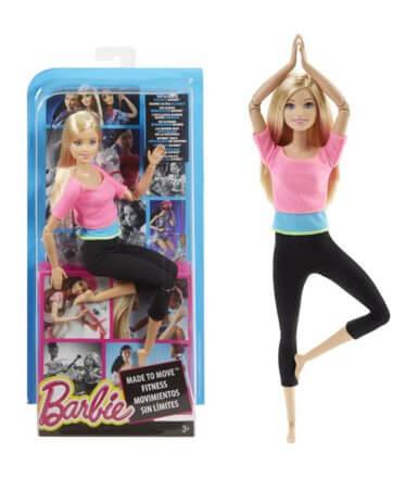 Lalka barbie lubiąca aktywne ćwczenia fizyczne