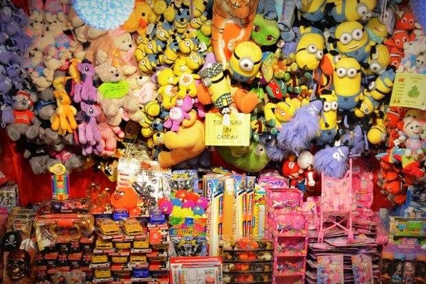 ogromnie dużo zabawek