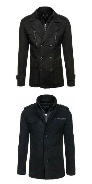Moda męska - czarne płaszcze na jesień