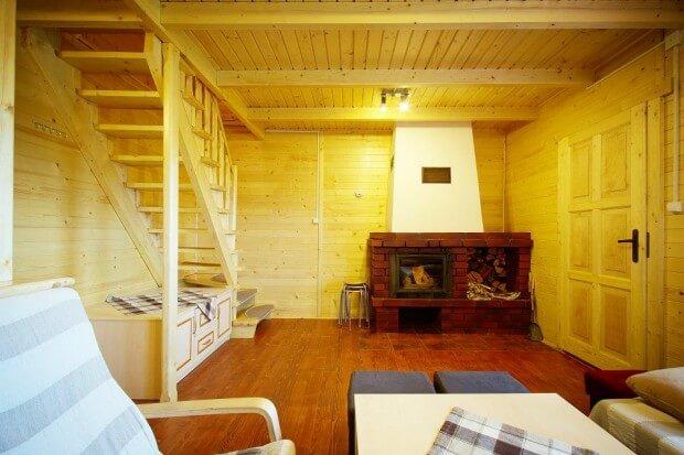 wnętrze domku w Istebnej