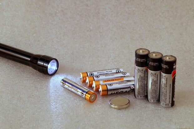 latarka i baterie