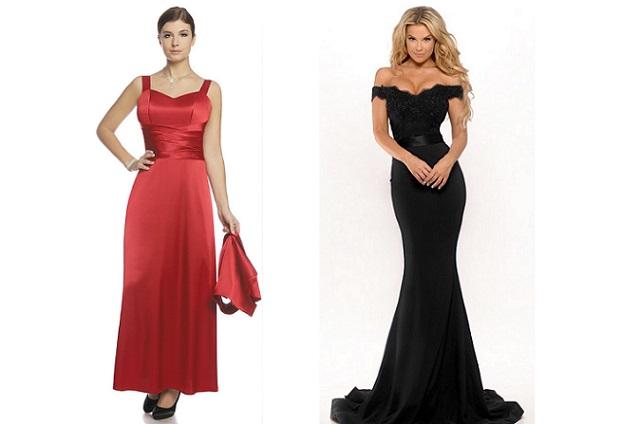 Kobiety w sukniach wieczorowych