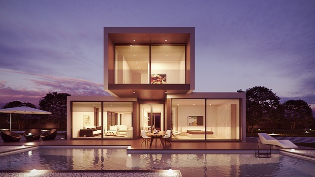 dom modułowy z basenem