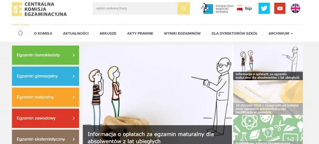 Strona internetowa CKE